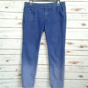 Free People Ombre Dip Due Royal Blue Skinny Jeans